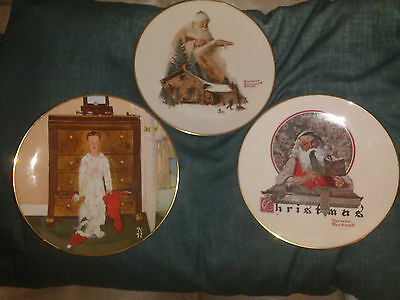 $ CDN37.37 • Buy 3 Norman Rockwell Christmas Collector Plates