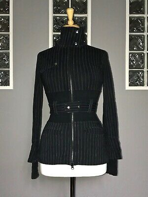 $ CDN75 • Buy Lululemon Full Metal Jacket 2 4 Black Pinstripe Belted Rare Eeuc