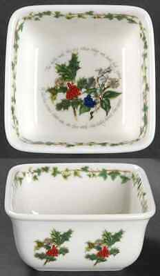 Portmeirion THE HOLLY & THE IVY Square Mini Bowl 8946520 • 9.99$