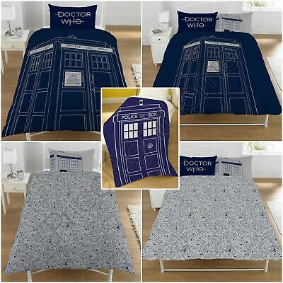 Doctor Who Tardis Bedroom - Single / Double Duvet Cover Set, Blanket Available • 10.89£
