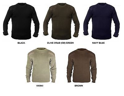 $40.99 • Buy Military Style Sweater CREW NECK Pullover US Army Navy SEAL's Veteran Commando