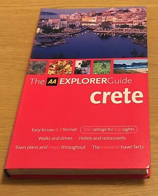 CRETE The AA Explorer Guide Book (Travel Guide) Paperback NEW • 3.99£