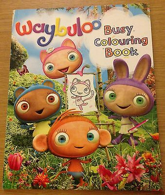 WAYBULOO Busy Colouring Book (Paperback) NEW • 2.99£