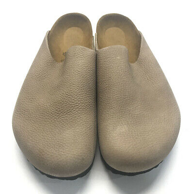 8b7f1dff0c3 Birkenstock Amsterdam Leather Clogs Steer Taupe 44 READ • 59.99