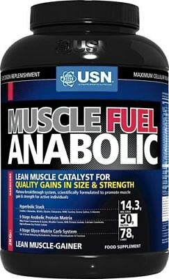 USN Muscle Fuel Anabolic All-In-One Muscle Mass Protein Gainer 2kg Chocolate • 28.84£
