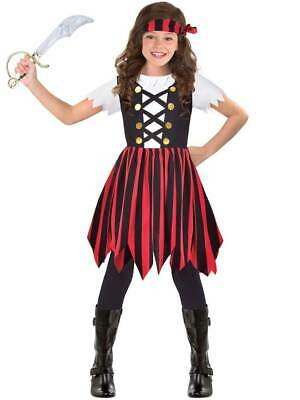 Childs Pirate Shipmate Cutie Fancy Dress Costume Caribbean Buccaneer Girls Kids • 8.99£