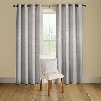 £39.99 • Buy NEW White Lined Montgomery Rib Plain Eyelet Curtains Width46 XDrop 90  RRP£84.89