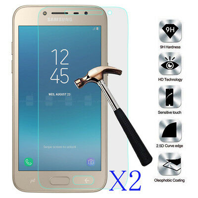 AU3.54 • Buy 2Pcs Tempered Glass Film Screen Protector Cover For Samsung Galaxy J2 Pro 2018