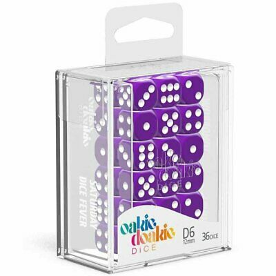 AU20.85 • Buy Oakie Doakie Dice D6 12 Mm Solid Purple 36pc