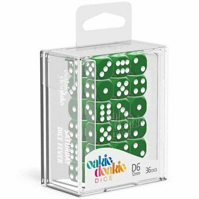 AU20.06 • Buy Oakie Doakie Dice D6 12 Mm Solid Green 36pc