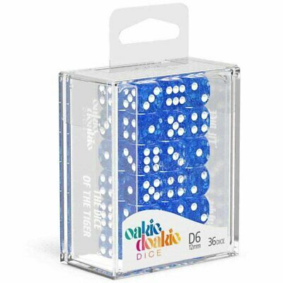 AU18.98 • Buy Oakie Doakie Dice D6 12 Mm Speckled Blue 36pc