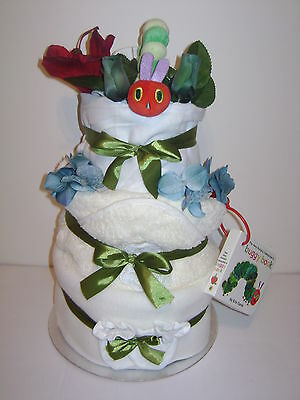 NEW Very Hungry Caterpillar 3 Tier Neutral Unisex Luxury Nappy Cake Baby Gift • 49.99£