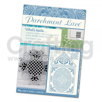 Tattered Lace Parchment Magazine - Issue 02 & FREE  Birdcage Grid • 8.99£