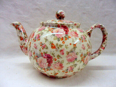 £22.99 • Buy Heron Cross Pottery Strawberry Rose Design 2 Cup Teapot Made In UK.