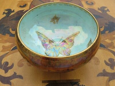 £290.51 • Buy Wedgwood Fairyland Lustre Ware Large Butterfly Beetle Footed Bowl (c.1900).