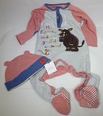 BNWOT Gruffalo Sleepsuit And Hat (with Tags) 2-Piece Set 12-18m • 11.99£
