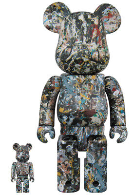 $569.24 • Buy 2018 Medicom Toy Jackson Pollock Version 2 Bearbrick Be@rbrick
