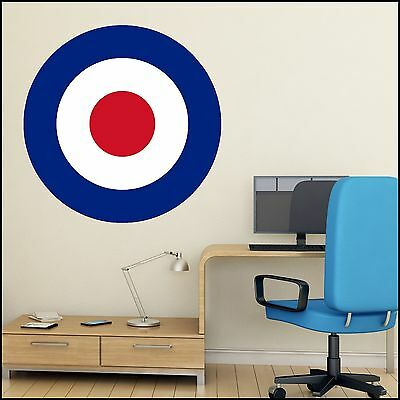 £19.49 • Buy Mod Mods Scooter Red White Blue Target Wall Art Sticker 6 Size XL-1.2m Mural