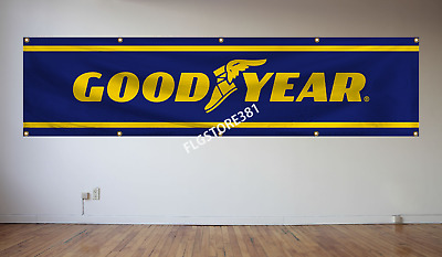 Goodyear Banner 2x8ft Racing Flag Tires Garage Shop Man Cave Large Banner • 18.99$