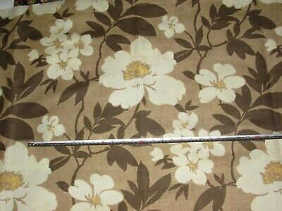 'Bayswater' Taupe 02, Mayfair Blendworth Linen Cotton Furnishing Fabric 3.2+ Mts • 17.95£