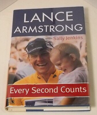 Lance Armstrong SIGNED Book - Every Second Counts - 1st Ed. / 1st Printing (B3) • 57.16£