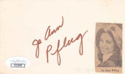$ CDN52.92 • Buy JO ANN PFLUG Signed 3x5 Index Card Actress/Laught In  JSA CC22984