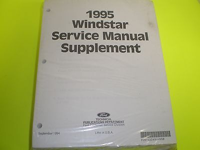 $8.95 • Buy  1995 Ford Windstar  Minivan Service Repair Shop Manual OEM UPDATED EDITION