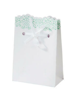 TALKING TABLES - Mint Lace Doiley Wedding Favour Bags - Pack Of 10 • 5.99£