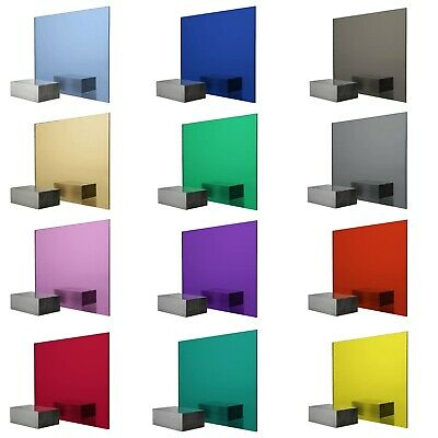 Coloured Perspex Acrylic Plaskolite Mirror Sheet 3mm Thick Red Gold Blue Pink • 8.22£