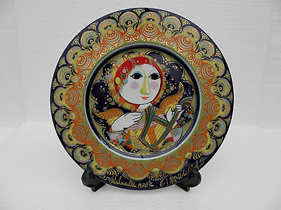 £20 • Buy Rosenthal Bisque Porcelain Plate ~ 1978   Angel With Harp  ~ Hand Signed