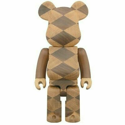 $3061.29 • Buy Medicom Be@rbrick 2016 Expo Karimoku Wooden Woven 400% Wood Bearbrick EMS