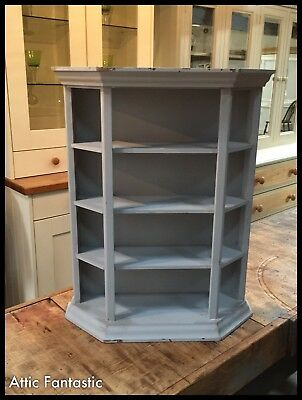 Grey Painted Solid Pine Shelf / Cabinet Top - To Stand Or Wall Mount - Gc • 48£
