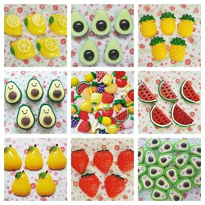 *Many Design* FRUITS Flatback Resin Embellishment Crafts Cabochon Decoden DIY UK • 2.50£