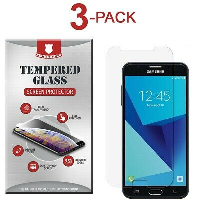 AU5 • Buy (3-Pack) Tempered Glass Film Screen Protector For Samsung Galaxy J7 Sky Pro