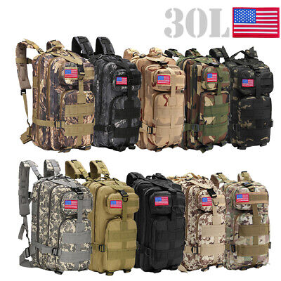 $20.88 • Buy 30L Outdoor Military Molle Tactical Backpack Rucksack Camping Hiking Bag Travel