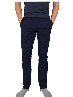 Carhartt Mens Sid Pant IO03367 Chino Trousers In Navy Rinsed • 74.99£