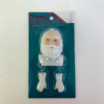 $ CDN15.82 • Buy Porcelain Doll Parts Santa Claus Face And White Gloves Hands Crafts Etc PD-5