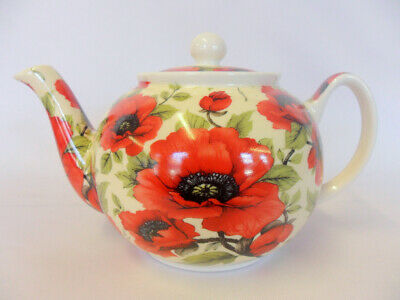 Poppy Design 2 Cup Teapot By The Abbeydale Collection. • 12.99£