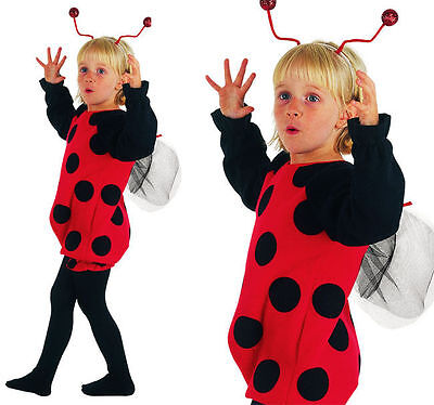 Cute Toddler Ladybird / Lady Bug Fancy Dress Costume Age 18 Months - 3 Years New • 9.95£