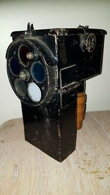 WW2 Royal Naval Admiralty Pattern Bridge Hand Held Signal Lamp • 95£