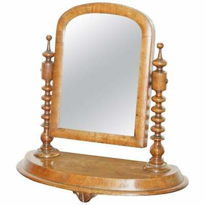 Stunning Georgian Cheval Table Top  Toilet Dressing Table Walnut Plate Mirror  • 150£