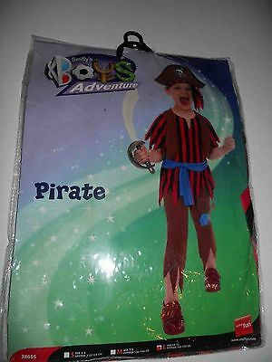 Pirate Boy Fancy Dress Costume Childrens Smiffys Large Aged 10-12 Years 0171 • 7.99£