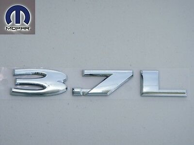 $39.99 • Buy Jeep Liberty 3.7 L 2003 - 2007 Chrome Emblem Nameplate Badge Decal Tail Gate