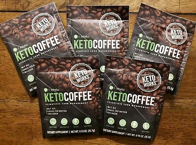 $21.95 • Buy It Works! Keto Coffee 5 Single Serve Packets Carb Management NEW!