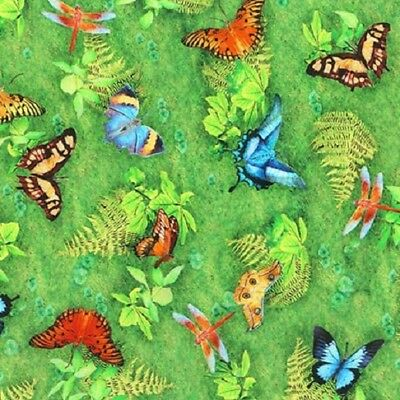 Picture This Digital Print Cotton Quilt Fabric By Kaufman BTY Butterflies • 11$