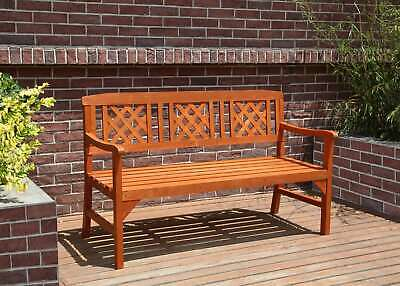 £136.99 • Buy BIRCHTREE Outdoor 3 Seat Chair Garden Bench Wood Spruce Patio Park WGB01 Natural