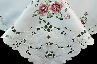$50 • Buy 72x144  Embroidery Lace Tablecloth 12 Napkin Polyester Rectangle Wedding Banquet