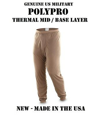 $8.95 • Buy New Us Military Army Usmc Poly Pro Thermal Mid Base Underwear S Pants Bottoms