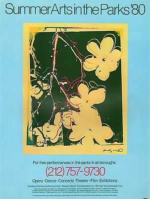 $15.25 • Buy Andy Warhol Poster Art ( Print)  Nyc Summer Arts In Parks Theater Film '80