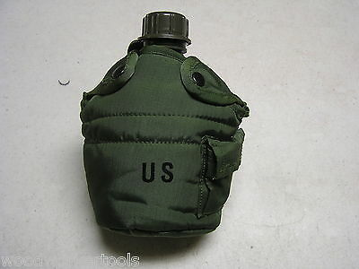 $ CDN12.09 • Buy *Military Quart Canteen With Cover & 2 Alice Clips One Quart Ideal Camping Item